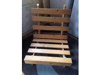 Single Futon with mattress for sale £30 Fixed
