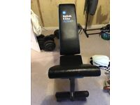 Men's health weight bench & bar