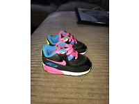 Baby Girls Nike Air Max Trainers Size 3.5