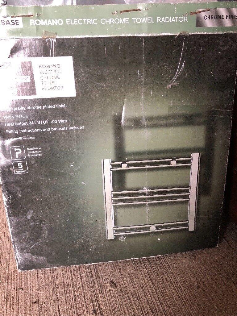 Chrome wall radiator