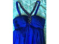 Royal Blue Prom Dress short size 10