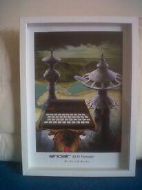 Rare Custom Framed Jim Burns Print - Original Promotional Artwork for Sinclair ZX81