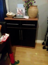 sideboard unit 2 drawers and shelves inside cupboard