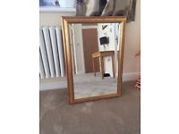 Antique Gold Decorative over mantle gilt wall mirror Wall Gold - 98cm x 85cm (Excellent condition)
