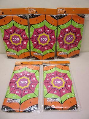 Lot of 5 Web Splat Game Halloween Party Spritz Spider Web Wall Target Spiders - Spider Web Halloween Games