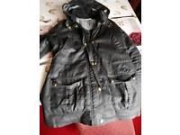 Black wax waterproof jacket