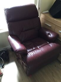 free leather reclining armchair