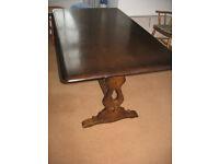 Farmhouse /Retro Ercol style dark dining / kitchen table