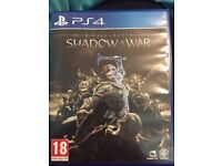 Middle Earth Shadow of War PS4 Game (Perfect condition)