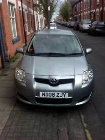 Toyota Auris 1.6 2008 low Milages great car