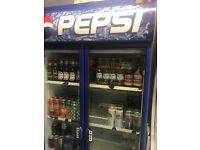 Commercial Pepsi Fridge Display Chiller