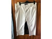 NYDJ white cropped jeans uk 20
