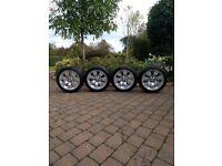 BMW genuine alloy wheel rims x4 complete with Brdidgestone winter tyres