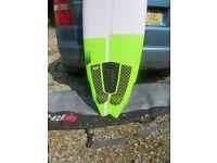 """New NS surfboard 6""""4x21x2 9/16 vol 37.70"""