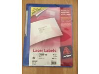 NEW AVERY LASER LABELS