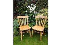 2 farmhouse chairs, shabby chic