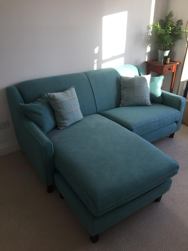 Made com Loaf Halston Corner L-Shaped Sofa Teal