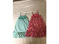 GIRLS 2 X SUN DRESSES AGE 4