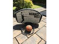 Basketball net and ball