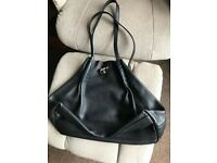 Nina Ricci black leather ladies hand bag - very good condition - original authentic