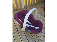 Grey/plum Mylo travel system-inc carry cot ,pushchair,car seat & accessories.