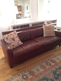 Chester leather sofa from Habitat