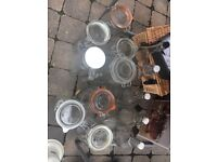 Collection of Kilner jars and bottles for home brewing/preserving