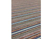 Two felt backed striped carpets (new)