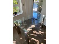 6 person glass dining table - 140cm - RRP£326.99