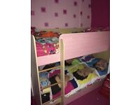 Bunk bed frame