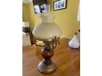 Heavy bronze lamp fitting