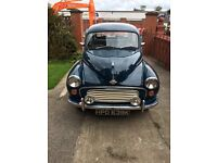 Morris Minor in very good condition. Good running car. Well undersealed. Low Mileage. MOT June 2017