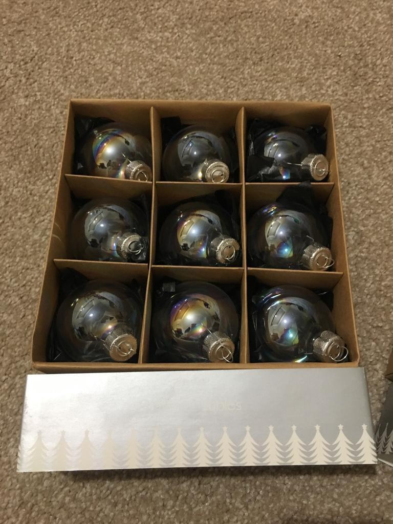 18 Glass Baubles from Paperchase BNIB