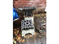 """Blacksmiths Anvil Swage Block 12"""" x 12"""" With Stand"""