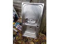 Leisure 950 x 508mm Stainless Steel 1.5 Kitchen Sink + Wastes in