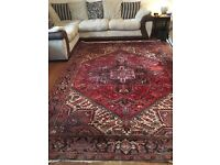 "Beautiful heavy duty wool rug - family heirloom. Size 7' x 9'8"" (215mm x 295mm) approx."