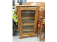 Solid wood display cabinet/ stereo stand