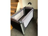 Deluxe travel cot - mamas and papas + extra mattress