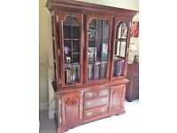 High Quality Solid Cherry Wood 2 Door/3 Drawer Sideboard with matching 2 door Display Cabinet