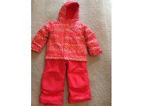 Girls Pink Columbia Buga Ski Jacket and Ski Pants Set - Size 4 Yrs