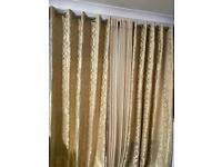 Full length gorgeous 4 piece curtains with veil net