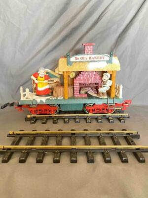 New Bright Holiday Express 384-3 Animated Christmas Train Set & Track In Box