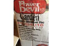 Power devil garden leaf shredder blower and vacuum
