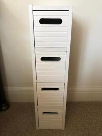 Small White Storage Unit with 4 drawers