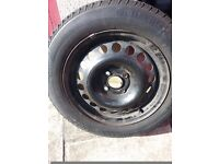 tyre on wheel for sale need £10 for