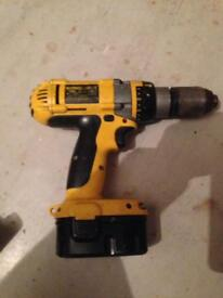 Dewalt drill and batteries.