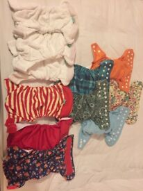 Tots bots and little lamb reusable nappies for sale - hardly used