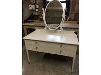 Solid Wood Dressing Table with tilting mirror and 3 working drawers – Beautifully restored