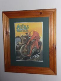 Prints of Advertising Posters, Pair in Pine Frames REDUCED!!