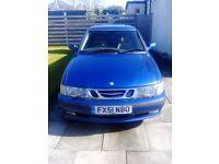 Saab 9-3 SE Turbo, 2.0 Petrol, Hatchback 2002, Cosmic Blue,